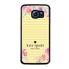 KADE SPADE NEW YORK FLORAL Samsung Galaxy S6 Edge Case - Best Custom Phone Cover Cool Personalized Design – Favocase