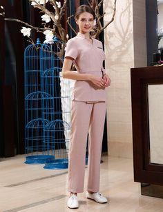 SPA Workwear 2pcs Sets Spring/Summer Beige Massage Work Uniform Sets Female Hospital Nurse Uniforms Wholesales Beauty Clothing -in Nurse Uniform from Novelty & Special Use on Aliexpress.com | Alibaba Group