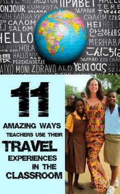 Get inspired by these teachers who use their travel experiences in the classroom. You'll definitely want to plan a trip soon! Teacher Tools, Teacher Resources, Multicultural Classroom, Future Classroom, Classroom Ideas, Teaching Techniques, Art Worksheets, Middle School English, Bible Teachings