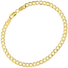 Citerna 3.2 g 9 ct Yellow Gold Curb Bracelet of 19 cm Length and 0.4 cm Width