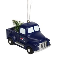 New England Patriots Truck With Tree Ornament