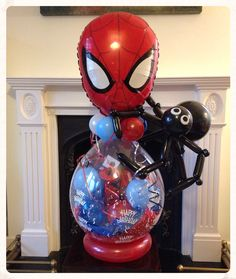 Spider-Man bloom made by balloonblooms.co.uk