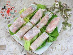 Rouleaux de printemps à la norvégienne   Une cuisine pour Voozenoo Fresh Rolls, Tuna, Asparagus, Fish, Meat, Vegetables, Ethnic Recipes, Presentation, Recipe Of The World