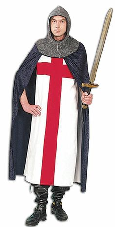 Knight (St George Cross)  £36.99 : Get It On Fancy Dress Superstore, Fancy Dress & Accessories For The Whole Family. http://www.getiton-fancydress.co.uk/adults/talesofoldengland/knightstgeorgecross#.Us8wqPu6-RM