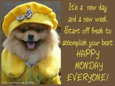 *It's A New Day And A New Week. Start Off Fresh To Accomplish Your Best...Happy Monday Everyone!  :-)