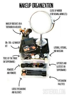 make-up organization (definitely doing this!)