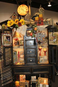 Graphic 45 had the best decorated and themed booth -- BEAUTIFUL displays in these gorgeous pieces of antique furniture