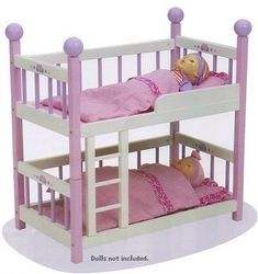 Wooden Bunk Bed For Baby Dolls   Baby Doll Furniture U0026 Accessories   All  About Baby