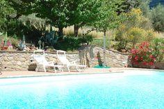 Swimming pool at Palazzo Tuoro sul Trasimeno, Umbria.