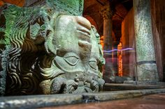 Medusa!Yerebatan Sarnıç, Istanbul.water cistern . by modenadude, via Flickr