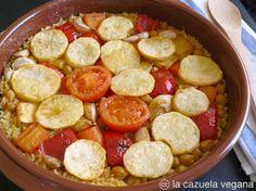 La Cazuela Vegana: Arroz al horno vegetariano [Arròs al forn]