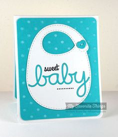 Beautiful Baby, Birthday Sentiments, Baby's Bib Die-namics, Beautiful Baby Die-namics, Oh Baby Die-namics, Swiss Dots Stencil - Michele Boyer