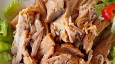Garlic, onion, stone-ground mustard, and orange juice make a tasty sauce for a slow cooked pork roast, to deliver delicious pulled pork with relatively little effort.