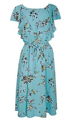dorothy perkins ss12 bird print dress