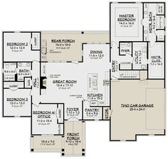 House Plan - French Country Plan: Square Feet, Bedrooms, Bathrooms : French Country Plan: Square Feet, Bedrooms, Bathrooms – One of my favorites just add another 2 car garage w/apartment above and private entrance French Country House Plans, French Country Style, French Country Decorating, Farmhouse Plans, Farmhouse Style, Craftsman Farmhouse, Craftsman Houses, Craftsman Style, Modern Farmhouse