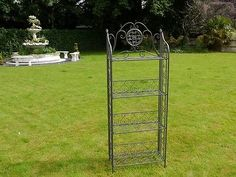 bakers rack antique etagere 4 tier rack stand shelves  plant stand