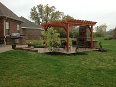 Patio fireplaces | Davenport Paver Patio, Pergola and Outdoor Fireplace in Centerville ...