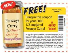 Free 1/2 cup jar of Penzeys Curry http://www.freestuffchannel.com/?p=2754