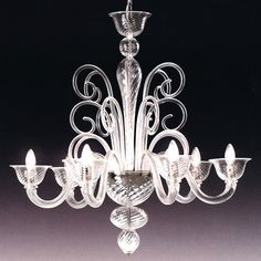 Voltolina Lampadario Barnaba Vetro di Murano Trasparente Varie Misure € 548,00 Glass Chandelier, Ceiling Lights, Contemporary, Murano Glass, Lights, Inspiration, Contemporary Chandelier, Glass, Chandelier