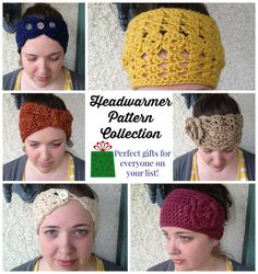 5 Gorgeous Crochet Headwarmer Pattern Collection (limited time download!)