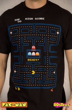 Maze Pac-Man T-Shirt: Video Games Pac-Man Mens T-Shirt