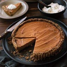 Healthy Pumpkin Tart with Pecan-Shortbread Crust