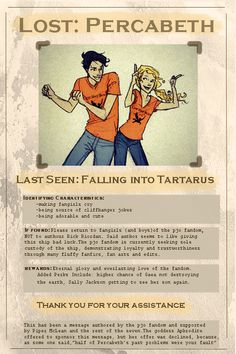 Eternal glory that's what awaits the demigod who finds percabeth ( and the tri-demigod cup XD XD XD )