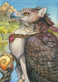 Lord of Dragon's Peak by windfalcon.deviantart.com on @deviantART Gryphon griffin