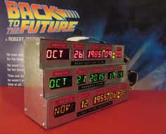 Time Circuits Desk Clock - Handmade - Back To The Future Movie Prop on Etsy, $546.45 AUD
