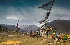 Nieuw in mijn Werk aan de Muur shop: Dramatische lucht in de vallei der koningen, Tibet