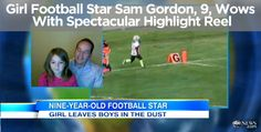 Her highlight reel of a peewee football plays has stats so impressive - 35 touchdowns, 65 tackles and nearly 2,000 rushing yards - they would make an NFL scout do a double-take. Watch: http://abcn.ws/STNWhw