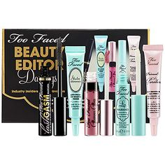 Gifts under $25: Too Faced Beauty Editor Darlings Set - $19 #Sephora #GiftExtraordinary #Holiday