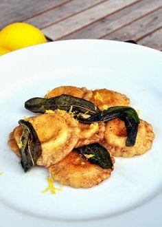 Lemon Ricotta Ravioli with Sage Brown Butter Sauce
