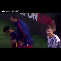 Stevie and Luis #Gerrard #Suarez #Liverpool