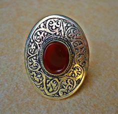 Vintage Aqeeq dramatic Silver Afghan Aqeeq Kuchi by GypsyCult, $38.00