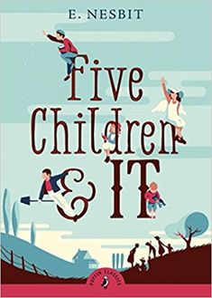 Five Children and It by E. Nesbit. When Cyril, Anthea, Robert, Jane and their baby brother go digging in the gravel pit, the last thing they expect to find is a Psammead – an ancient Sand-fairy! Having a Sand-fairy for a pet means having one wish granted each day. (Oct. 2017)