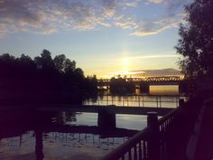 View from Aleksandra Siltanen park to Näsijärvi lake, Tampere, Finland Lake City, My Happy Place, Celestial, Sunset, Places, Travel, Outdoor, Finland, Sunsets