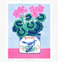 Shop Page 2 - Cabin Journal Blue Jay, Jay Azul, Posca Art, Plakat Design, Illustrations Posters, Art Inspo, Screen Printing, Illustration Art, Drawings
