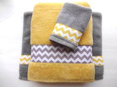 Pick Your Size Towel, Yellow And Grey Towels, Gray And Yellow. Bathroom,  Towel Sets, Hand Towels, Yellow And Grey Bathroom, Bath Decor
