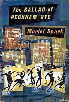 """The Ballad of Peckham Rye"" by Muriel Spark. Cover illustration by Victor Reinganum Book Cover Design, Book Design, Design Ideas, Spark Book, Muriel Spark, Graphic Design Books, Book Writer, Vintage Maps, Cool Posters"