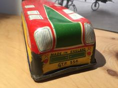 METTOY 40s TIN TOY BUS MADE IN ENGLAND SWIFT COACH GTP 554 ORIGINAL VERY RARE