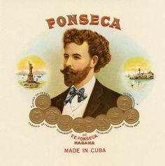 1950s Cuba Fonseca Cuban Cigar Label