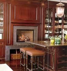 Framing the fireplace surround raised