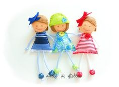 """""Lilos de fieltro"""": Broches ""Chics"""