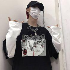 Edgy Outfits, Anime Outfits, Grunge Outfits, Grunge Fashion, Cool Outfits, Naruto T Shirt, Otaku, Anime Inspired Outfits, Harajuku Fashion
