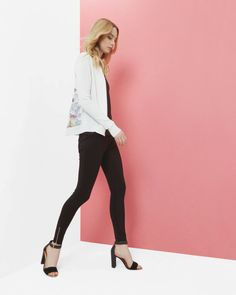 STYLE WORTH TALKING ABOUT Stake your claim to the good life in this polished cardigan that quietly masks one's competitive streak.  Liberte Style // Ted Baker // Cardigan // Women Fashion // Spring Fashion
