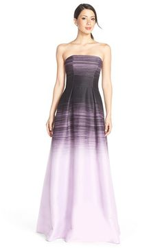 Halston Heritage Ombré Woven Ballgown available at #Nordstrom