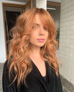 Ginger Hair Color, Strawberry Blonde Hair Color, Hair Color And Cut, Ginger Hair Dyed, Blonde Orange Hair, Stawberry Blonde, Pastel Orange Hair, Copper Blonde Hair Color, Ginger Blonde Hair