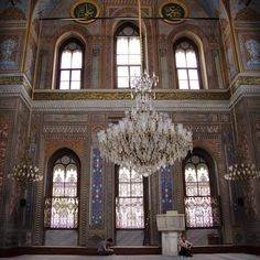 Beautifuly decorated Valide Sultan Mosque in Aksaray, Istanbul