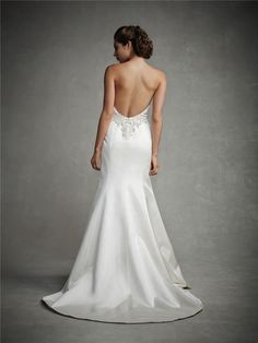 Cheap Backless Wedding Dress - Discount Beaded Ivory Satin Backless Mermaid Wedding Dresses 2015 Online with $131.94/Piece | DHgate.com